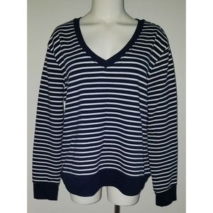 3/$25🌷 NWT A New Day Sweatshirt Top Striped Blue